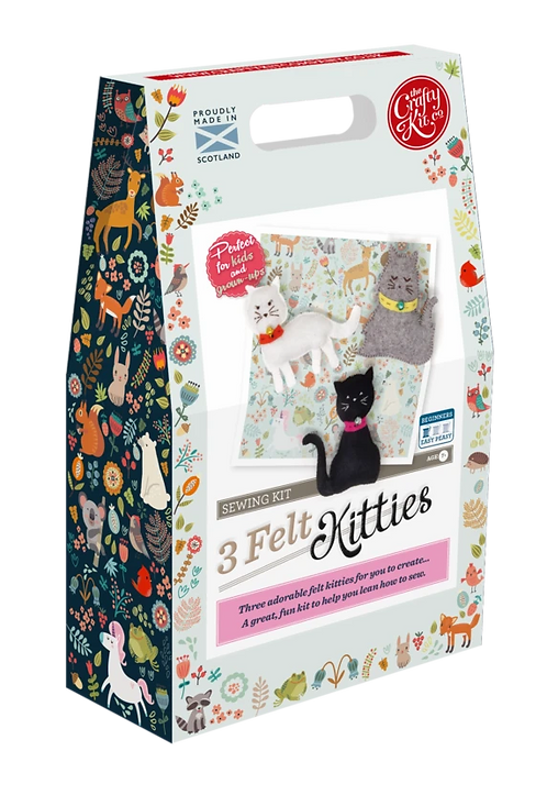 The Crafty Kit Company 3 Felt Kitties Sewing Kit