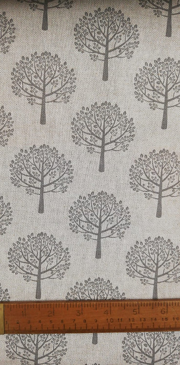Mulberry Trees Printed Onto A Linen Look Fabric