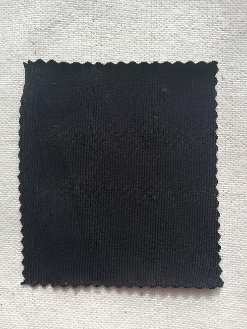 Black Cotton Spandex Jersey