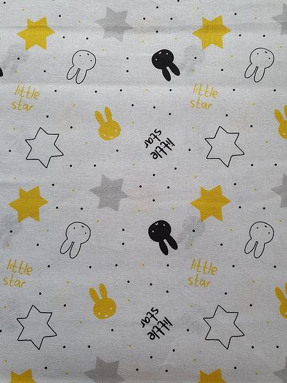 Miffy Design On White Cotton Fabric