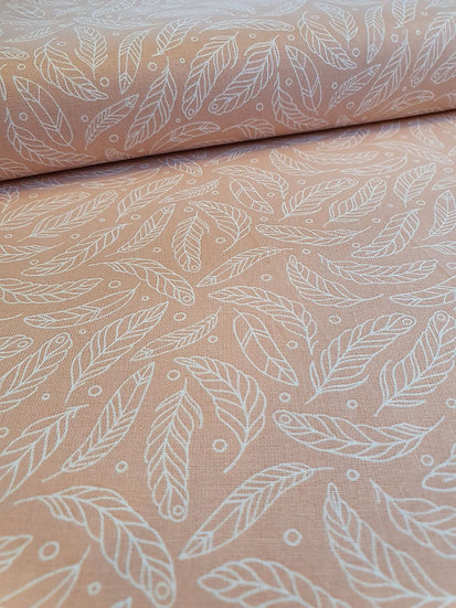 Feather Printed Onto A Cotton Fabric