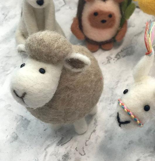 Needle Felting Kit Of A Sheep