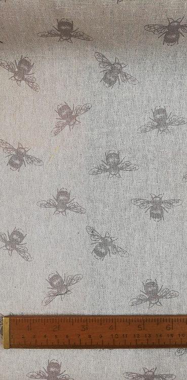 Grey Bee Print Fabric