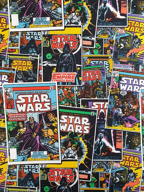 Star Wars Comic Books Printed On To Cotton Fabric