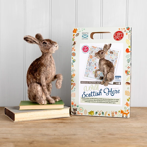 THE CRAFTY KIT CO - NEEDLE FELTING -WILD SCOTTISH HARE