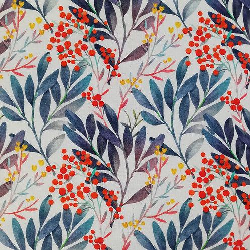 Christmas Floral Digital Print Cotton Fabric