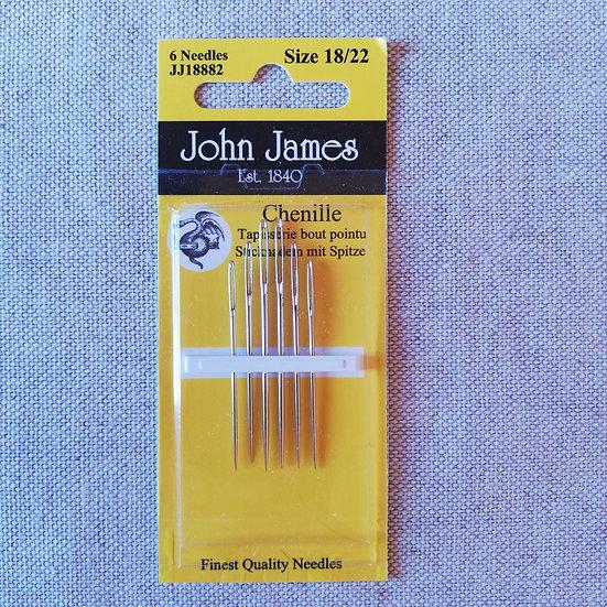 JOHN JAMES CHENILLE NEEDLES 18/22