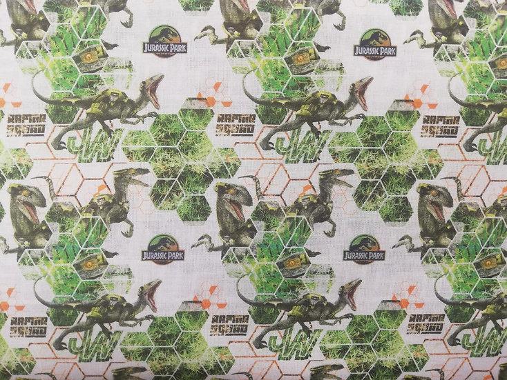 Jurassic Park Raptor Squad Cotton Fabric