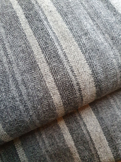 Grey Wool Stripe Fabric