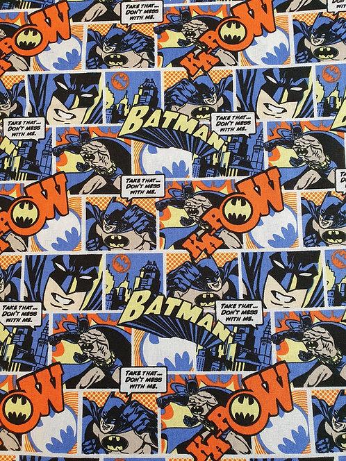 Batman Comic Strip Print On Cotton Fabric
