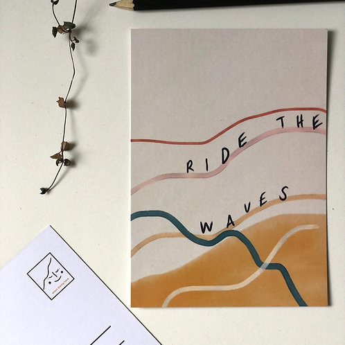 Ride the Waves postcard