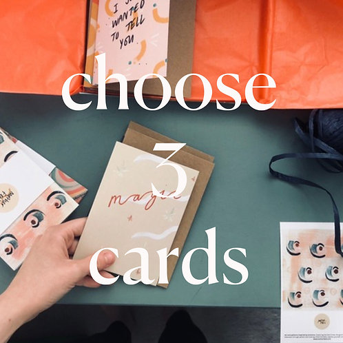 3 Cards of your choice