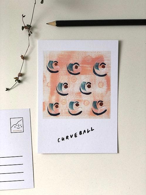 Curveball postcard