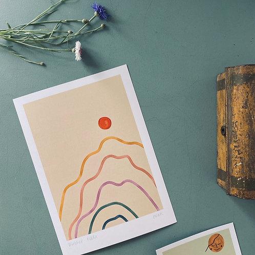 'Peak' A4 Art Print