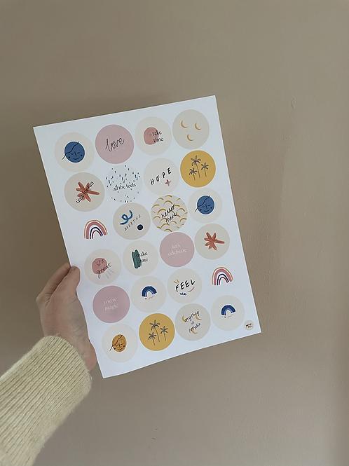 Little Joys Sticker Sheet - 24 stickers