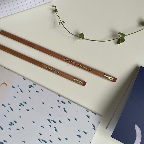 Feelings pencil - Choice of two engravings