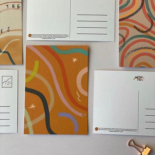 Curveball Postcard Set x 7