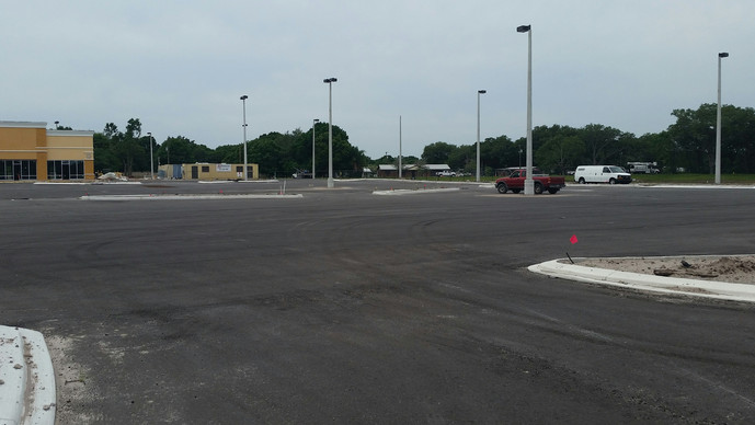 Thompkins Contracting, Inc. reaches final phase at Publix Shopping Center in Arcadia.
