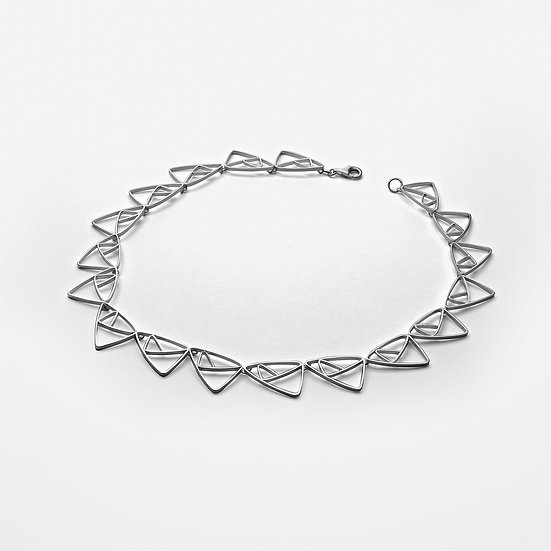 Interlocked Triangles Necklace