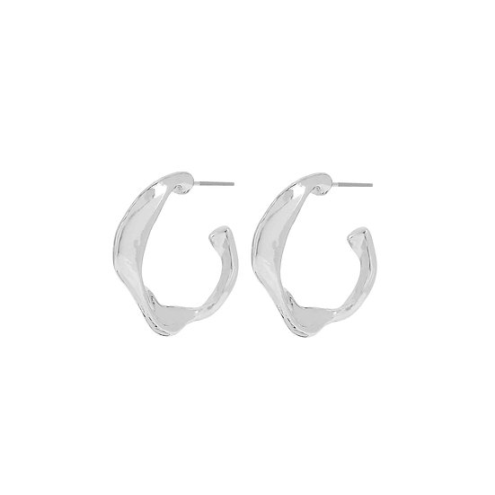 Fluid Branch Hoop Earrings