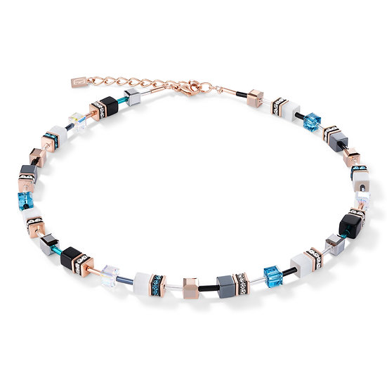 Rose Gold, White & Petrol Necklace