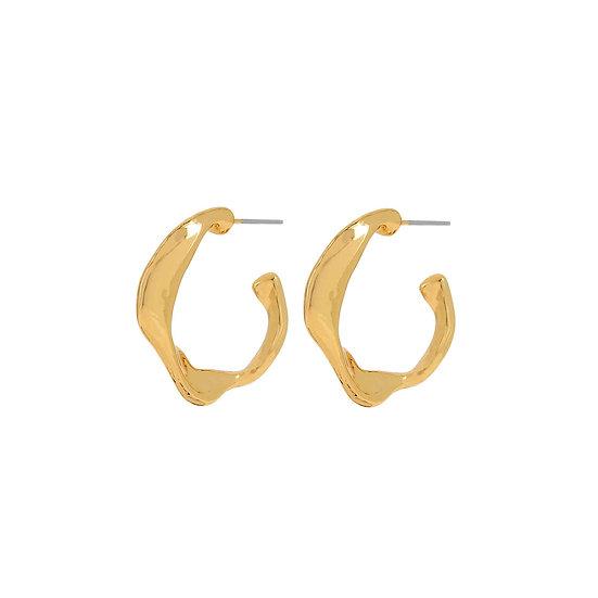 Fluid Branch Hoop Earrings