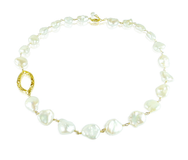 Modern Baroque Pearl Necklace