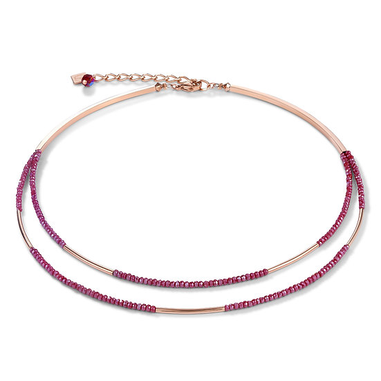 Rose-Red Waterfall Necklace