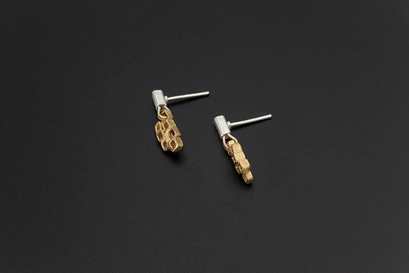 Two Tone Multi-Cube Earrings
