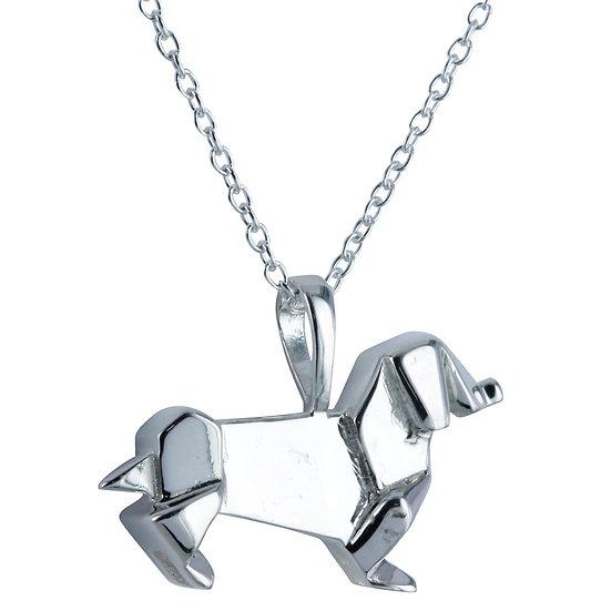 Origami Dachshund Necklace