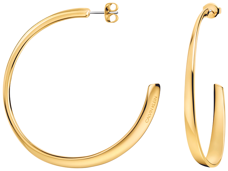 Groovy Gold Hoop Earrings