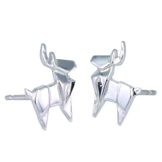 Origami Stag Studs