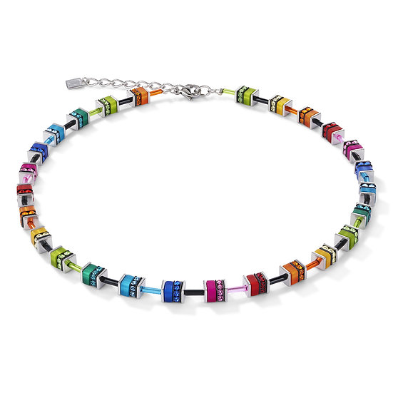 Multicoloured Cube Necklace