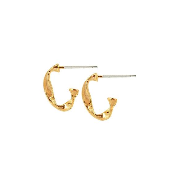 Fluid Branch Small Hoop Earrings