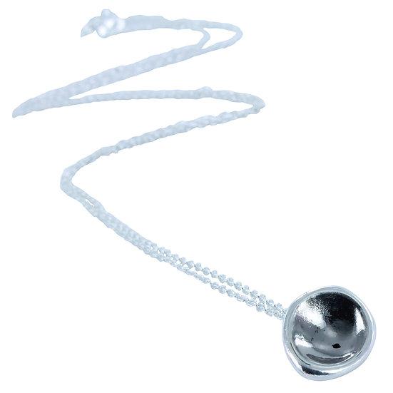 Oxidised Moon Necklace