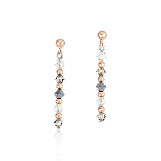 Rose-Grey Earrings