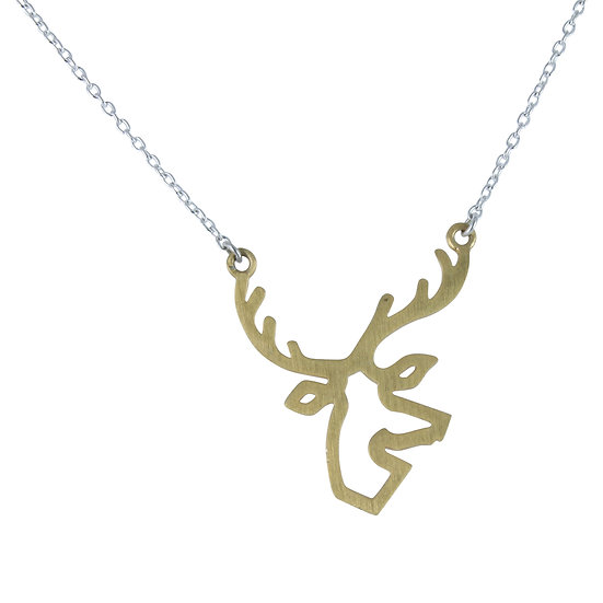 Golden Stag Necklace