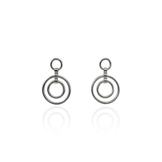 Catena Front Hoop Earrings