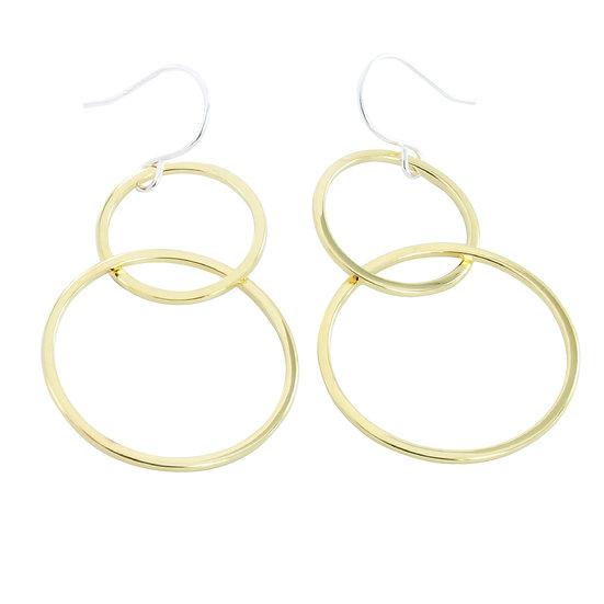 Gold Eclipse Earrings