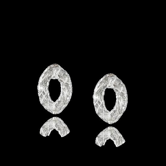 Small Oval Stud Earrings