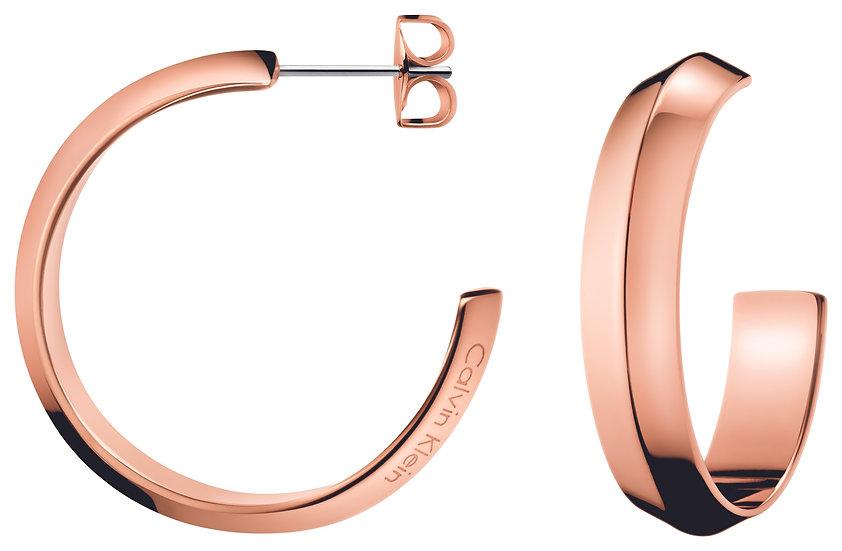 Shape Rose Hoop Earrings
