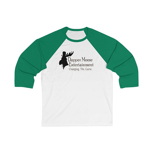 Dapper Moose Changing the Game Logo Unisex 3/4 Sleeve Baseball Tee