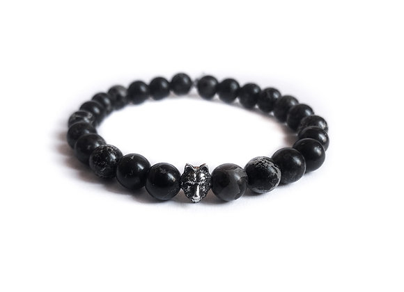 Bracelet with pearls - Wolf