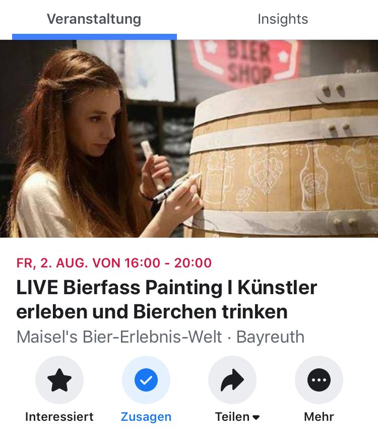 LIVE Bierfass Painting