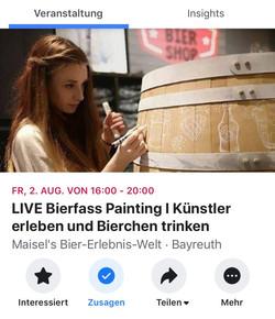 LIVE Bierfass Painting
