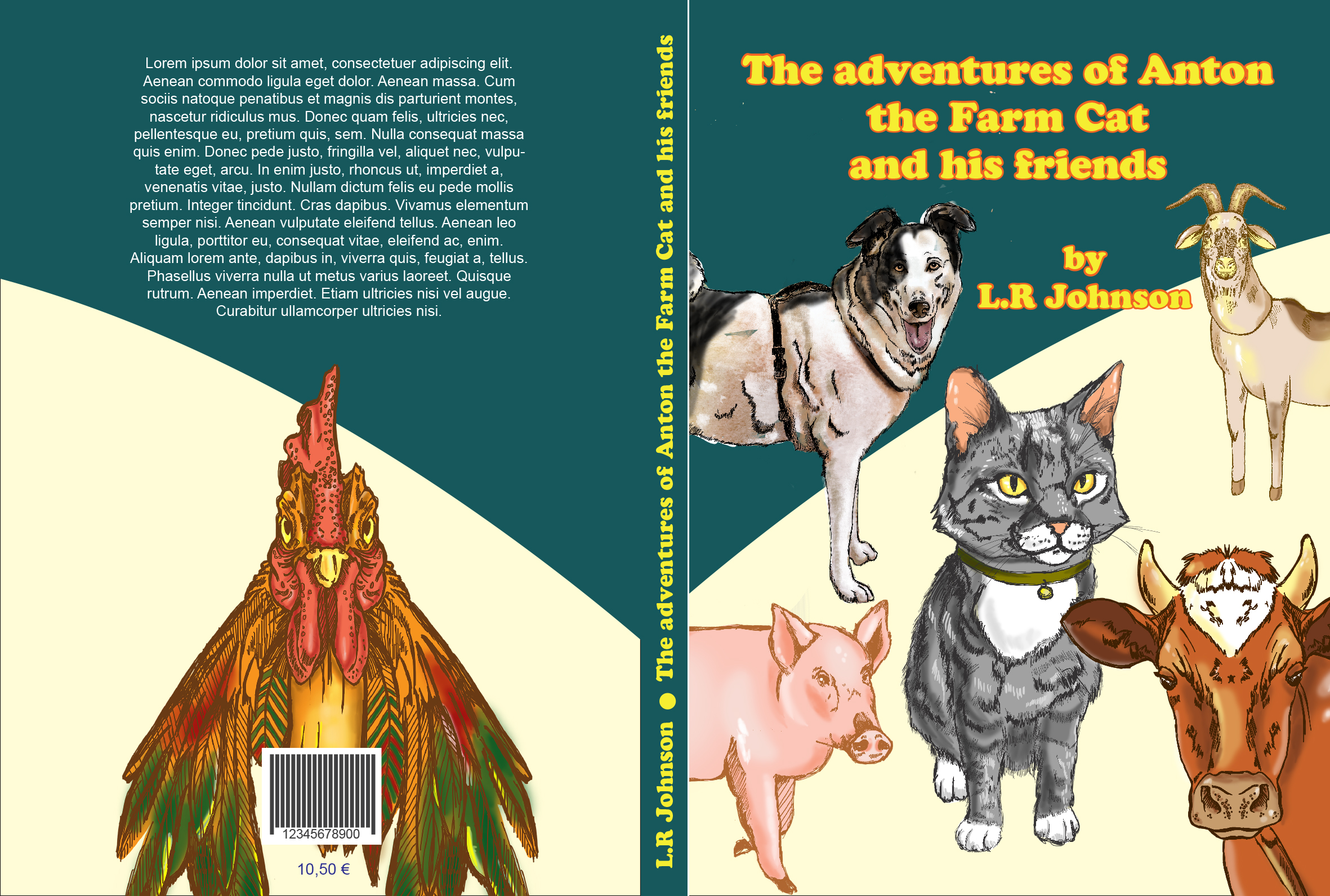 "✅Anton from the chlildren book "" The adventures of Anton the farm cat and his friends ""😀 from L.R."