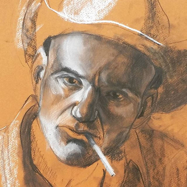 Cowboy portrait from 2009_#charcoal #bla