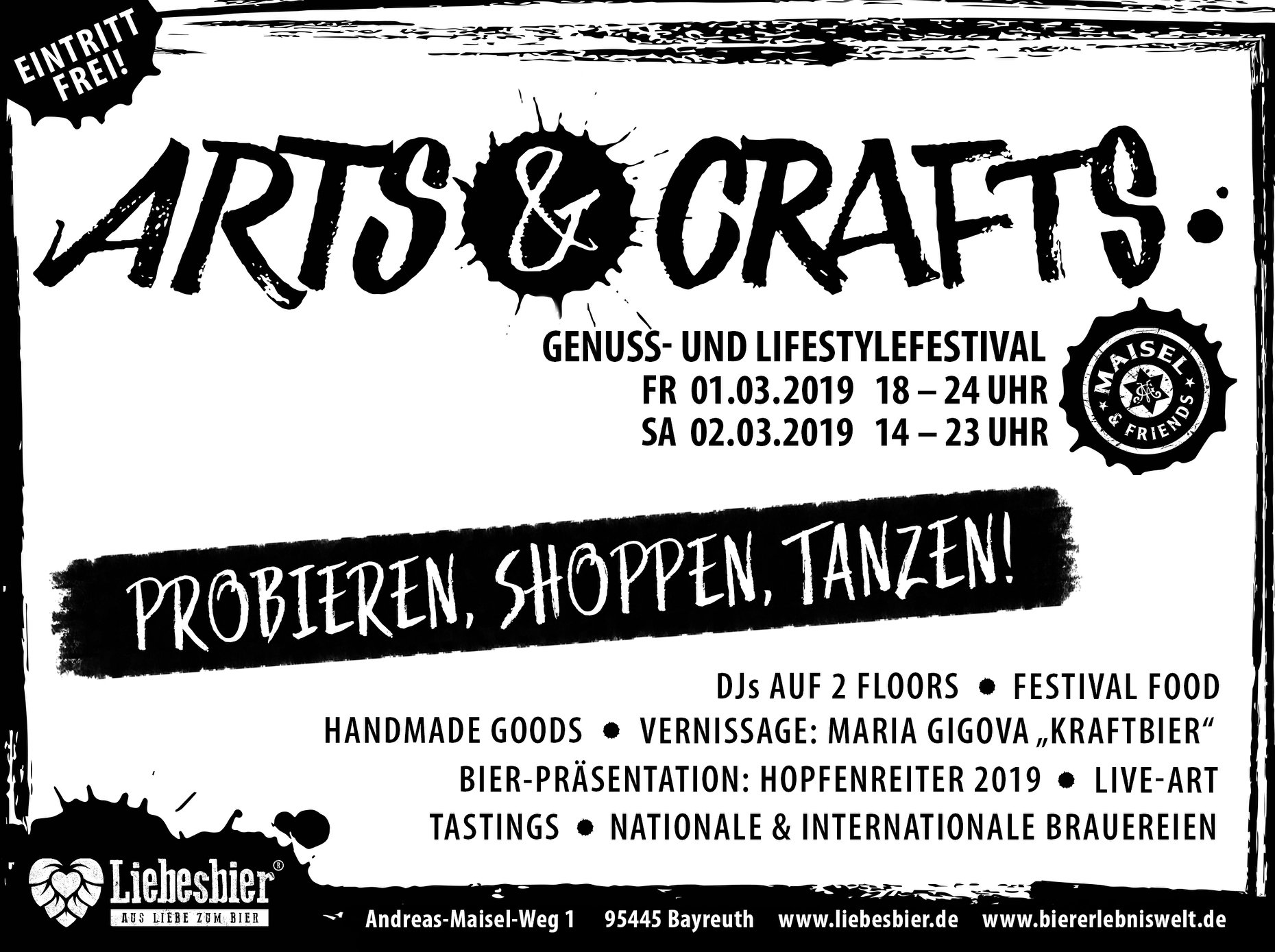 Arts & Crafts FESTIVAL LIEBESBIER