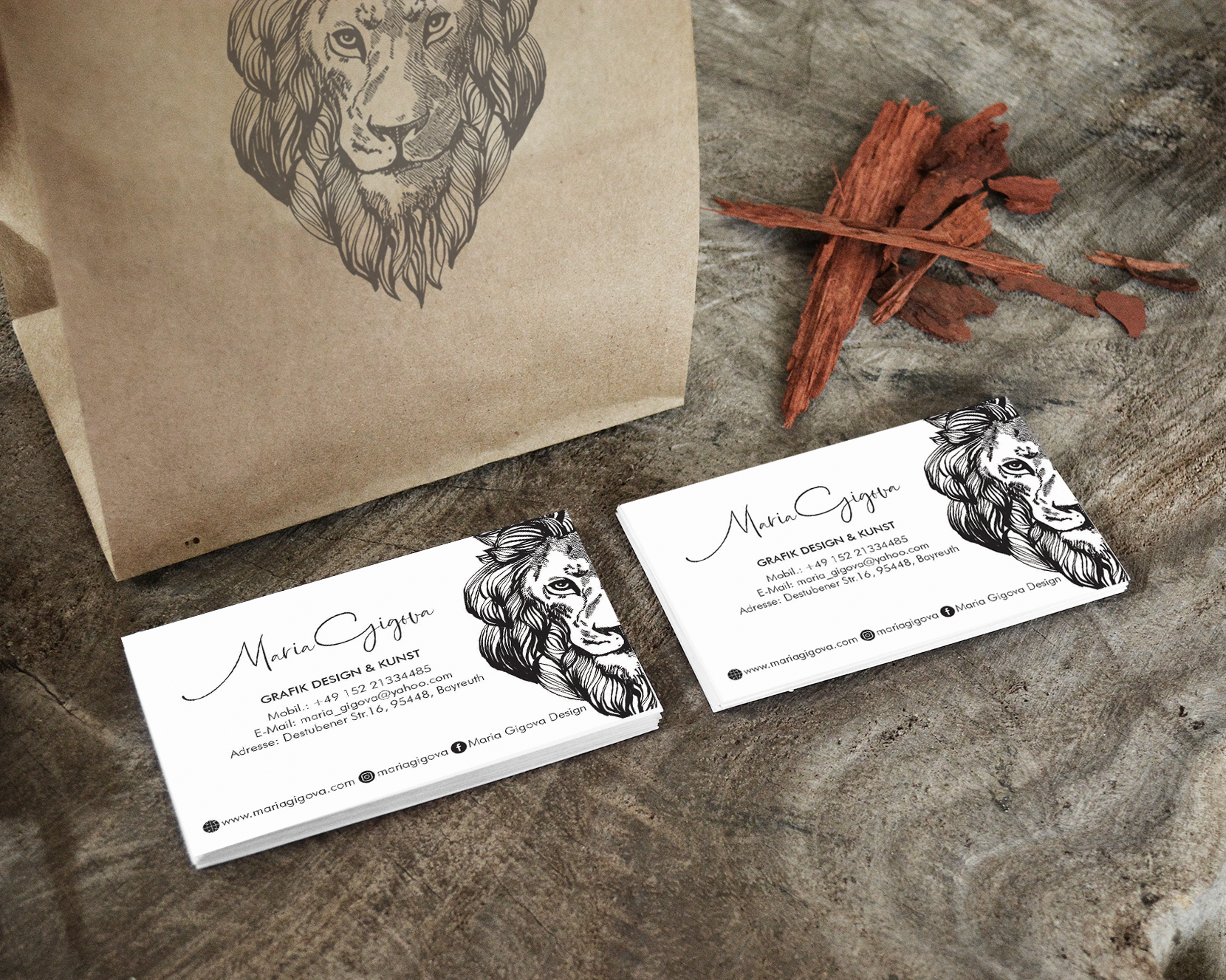 Business card Maria Gigova