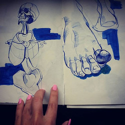 Friday-anatomy lessons_#ink #anatomy #sk